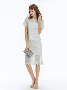 凡恩女装19白色蕾丝裙