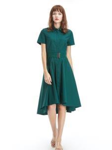 凡恩女装19绿色连衣裙