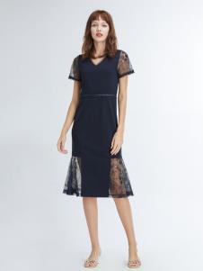 凡恩19黑色蕾丝裙