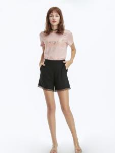 凡恩女装19夏粉色T恤