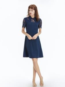 凡恩女装19蓝色连衣裙