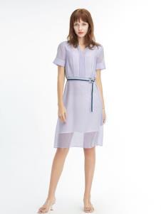 凡恩女装19紫色裙子