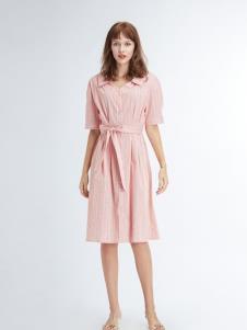 凡恩女装19粉色连衣裙