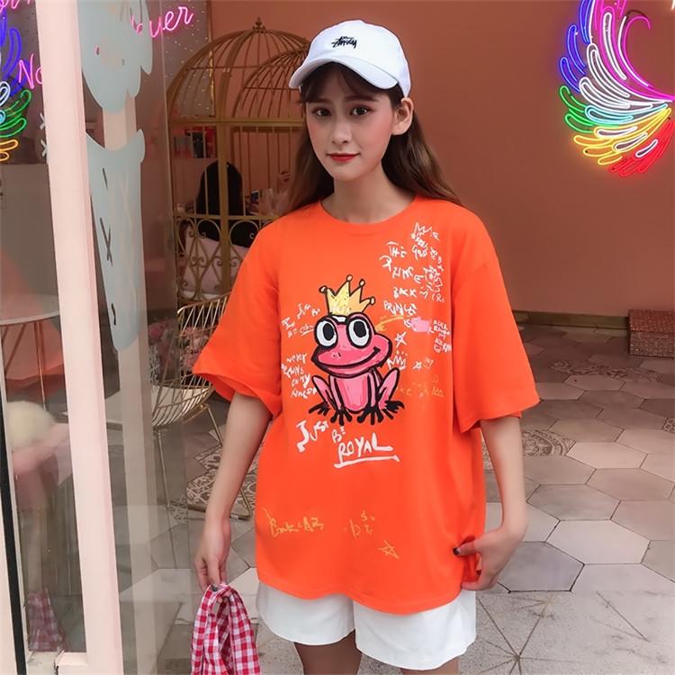 韩版简?#21152;?#33457;女式T恤