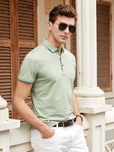 迪拉格男装19浅绿色Polo衫