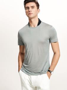 迪拉格男装19灰色T恤