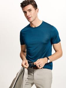 迪拉格男装19蓝色T恤