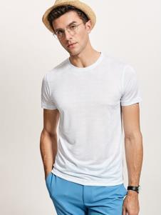 迪拉格男装19白色T恤