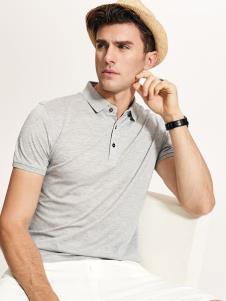 迪拉格男装19灰色Polo衫