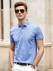 迪拉格男装迪拉格男装19浅蓝色Polo衫