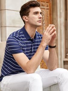 迪拉格男装条纹Polo衫