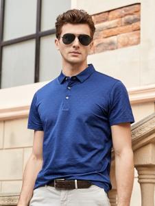 迪拉格男装19深蓝色Polo衫