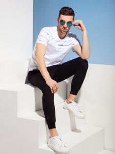 2019袋鼠男装白色T恤
