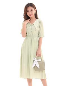 QIMYIDVR芊伊朵新款淺綠色連衣裙