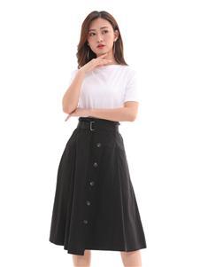 QIMYIDVR芊伊朵新款黑色半身裙