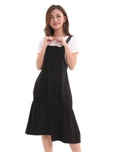 QIMYIDVR芊伊朵新款黑色背带裙