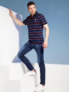 2019袋鼠男装条纹polo衫