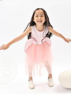 设计师NNE&KIKI女童粉色裙子