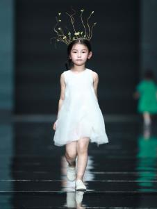 设计师NNE&KIKI女童白色公主裙