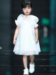 设计师童装NNE&KIKI女童白色裙子