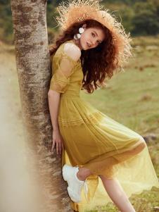 奥伦提夏19黄色连衣裙