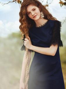 奥伦提女装19黑色蕾丝裙