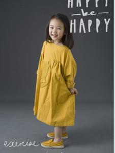 设计师NNE&KIKI女童黄色韩版裙子