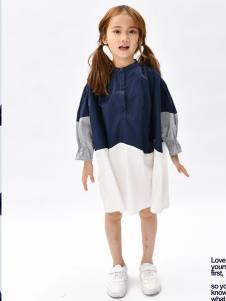 设计师NNE&KIKI女童个性拼接裙子