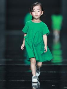 NNE&KIKI女童绿色连衣裙