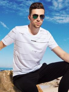 袋鼠男装经典款白色T恤