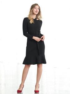 歌莉娅女装歌莉娅黑色连衣裙