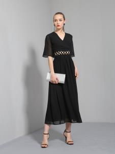 索诗妃儿黑色连衣裙