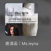 Ms.Leyna原创设计师品牌女装2019冬季新品发布会邀请函