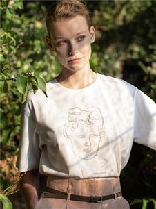 Peserico春夏新款白色T恤