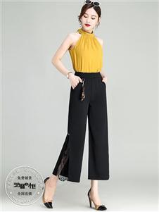 芝麻e柜女装夏款黑色裤子
