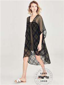芝麻e柜女裝夏款黑色雪紡裙