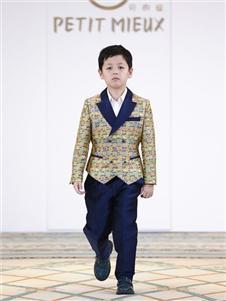 贝的屋中式男童西服外套