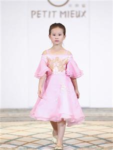 PETIT MIEUX贝的屋女童粉色礼服裙