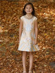 贝的屋女童精美刺绣裙子