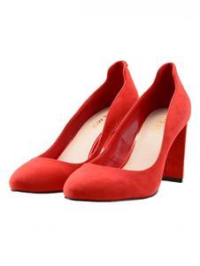 玖熙新款粗中跟女鞋