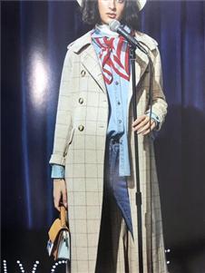 艾格伊品格子大衣