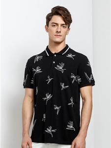 安正男装男装安正男装夏季新款T恤