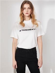 DTWO原创女装19白色T恤
