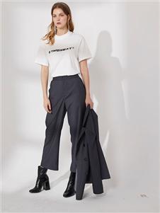 DTWO原创设计女装19白色短袖