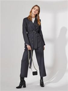 DTWO原创设计女装19新款西服套装