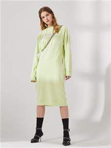 DTWO原创设计女装19新款卫衣连衣裙