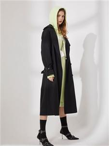 DTWO原創設計女裝19新款黑色外套