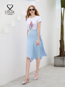 迪絲愛爾2019新款藍色半裙