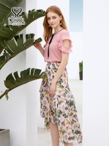 迪丝爱尔2019时尚印花半裙