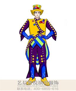 游乐园小丑表演服装景区舞台小丑演出服装定制